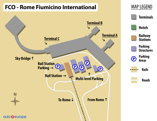 Rome Fiumicino Airport Map