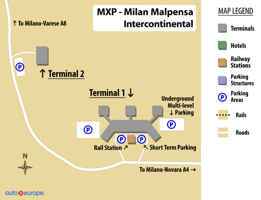 Milan Airport Terminal Map