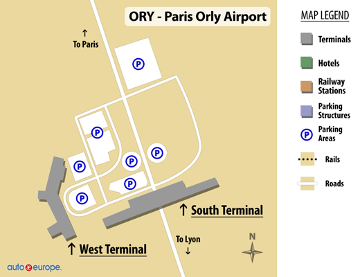 ORY Terminal Map