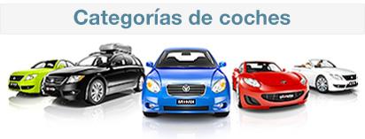 Categor�as coches de alquiler