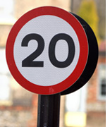 20 Mile an Hour Speed Sign