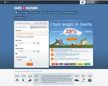 Il nuovo sito di Auto Europe