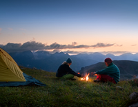 Campen am Lagerfeuer