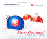 Auto Europe Christmas Email