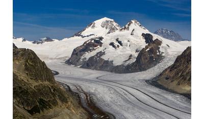 Biggest Glacier in Switzerland