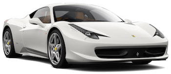 Autoverhuur ROMA  Ferrari 458 Italia Spyder