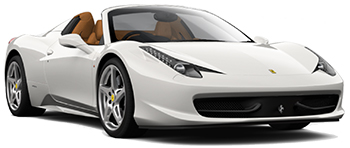 Car Hire MADRID  Ferrari 458 Spider