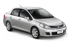 Car Hire ANTIGUA  Nissan Tiida