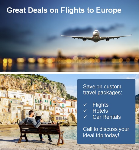 Cheap Flights and Package Deals to Europe
