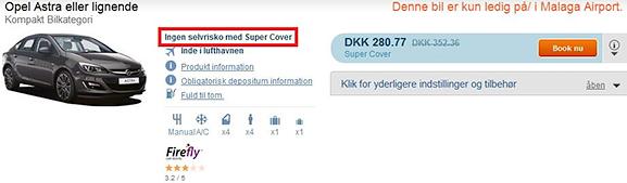 Ingen selvrisiko med Super Cover