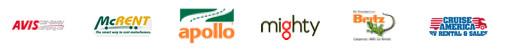 Logos das empresas de aluguer