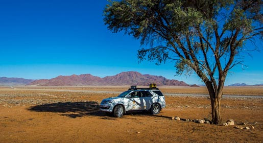 Campervan 4x4 hire in Namibia