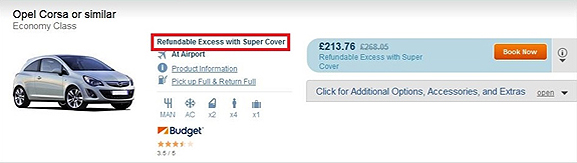 Refundable Excess with Super Cover