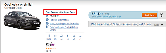 Zero Excess with Super Cover