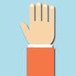 Hånd signaler - Stop
