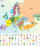 Map of European Countries