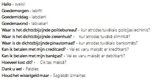 Woordenlijst Letland