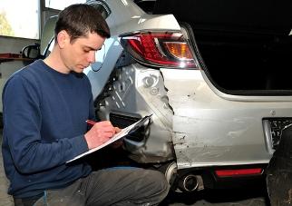 Damaged Rental Car