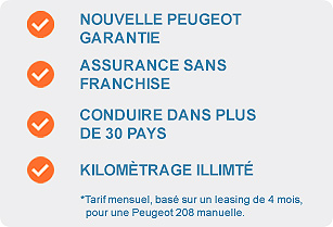 Peugeot Leasing avec Auto Europe