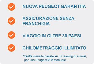Peugeot Leasing con Auto Europe