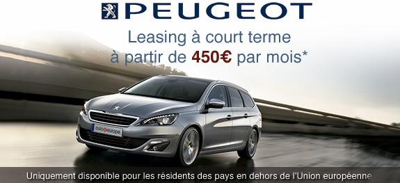 Peugeot Open Europe - Leasing en Europe
