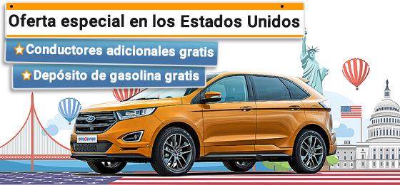 Alquiler de coches Estados Unidos y Canadá - Tarifa Gold
