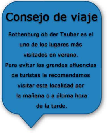 Ruta romántica Rothenburg - Consejos de viaje