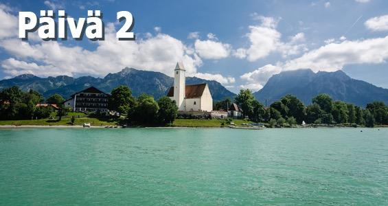 Saksan alppireitti päivä 2
