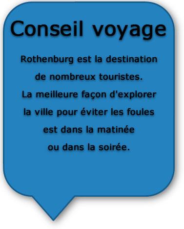 Route romantique Rothenburg - Conseils voyage