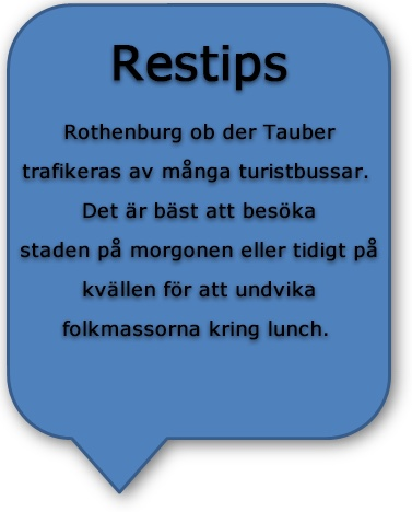 Restips längs romantiska vägen på roadtrip i Rothenburg