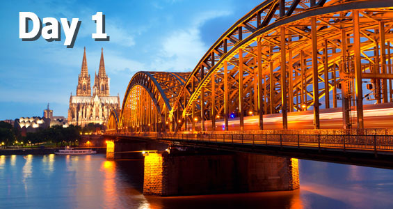 600 mile road trip in Germany Day 1 Cologne