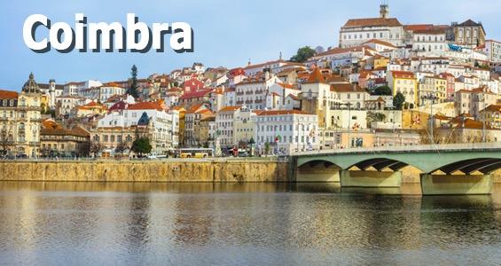 Byen Coimbra fra vandet