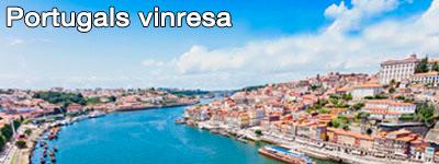 en flod som rinner igenom en portugisisk stad