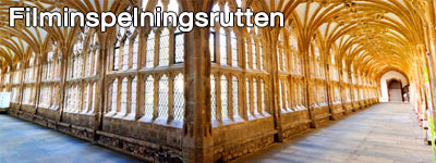 Valv inuti klostret Lacock Abbey där vissa scener ur Harry Potter utspelades