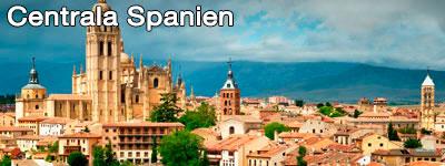 Segoviakatedralen med berg i bakgrunden