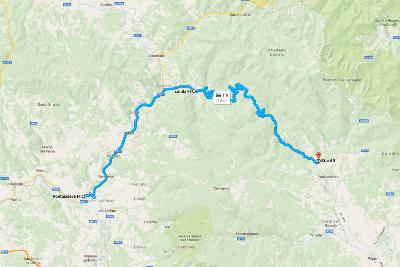 Italy Road Trip Overview Pontassieve Map
