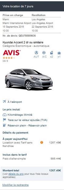 Frais d'aller-simple avec Auto Europe