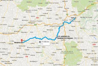 Tulle to Bergerac Route