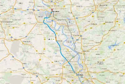 Road Trip in Germania - Mappa con itinerario per Colonia