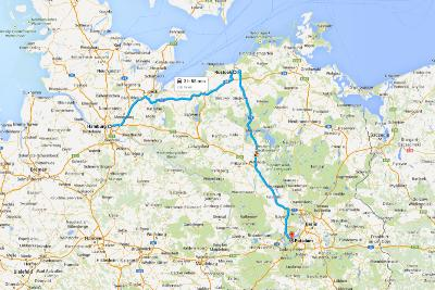 Road Trip Germania - Cartina con itinerario per Amburgo
