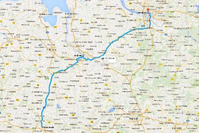 Road Trip in Germania - Cartina con itinerario per Osnabruck