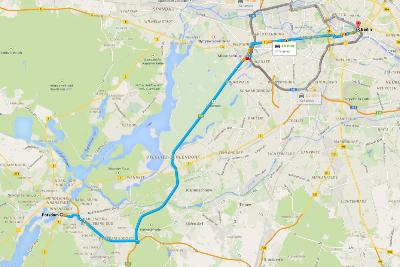 Road Trip Germania - Cartina con itinerario per Potsdam