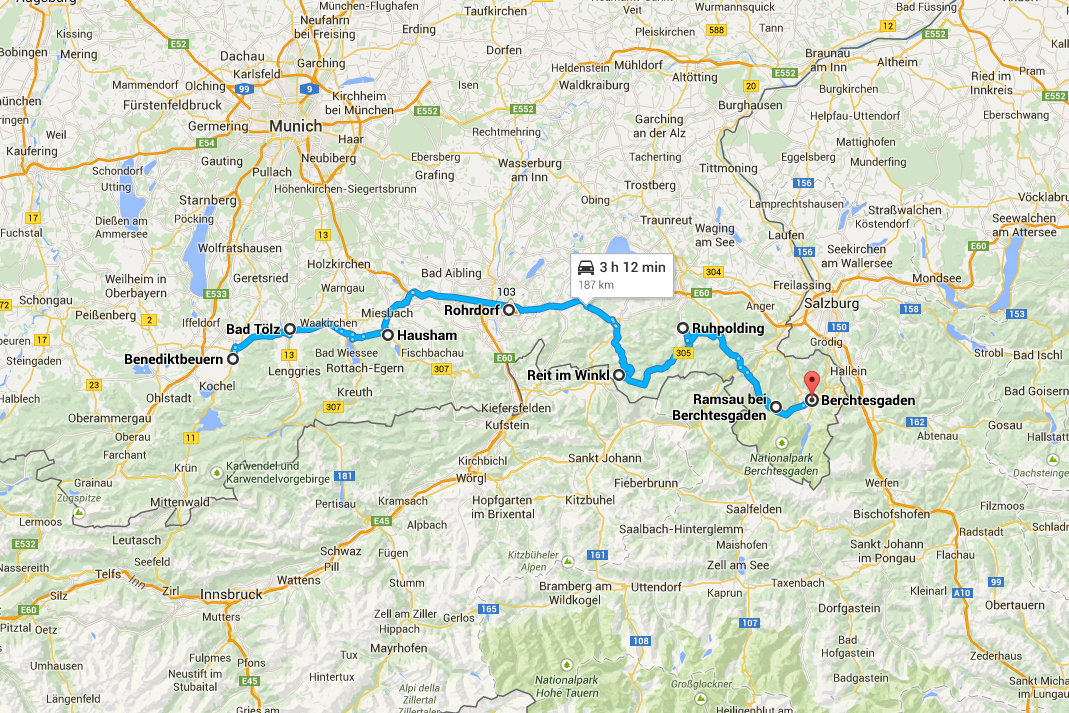 German Alpine Road Trip Day 3 Berchtesgaden Map