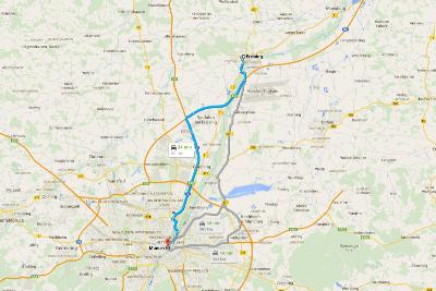 Carte Google Maps - Road trip Munich jour 2 - 3