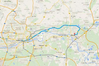 Road Trip Fairy Tale Road Frankfurt Map