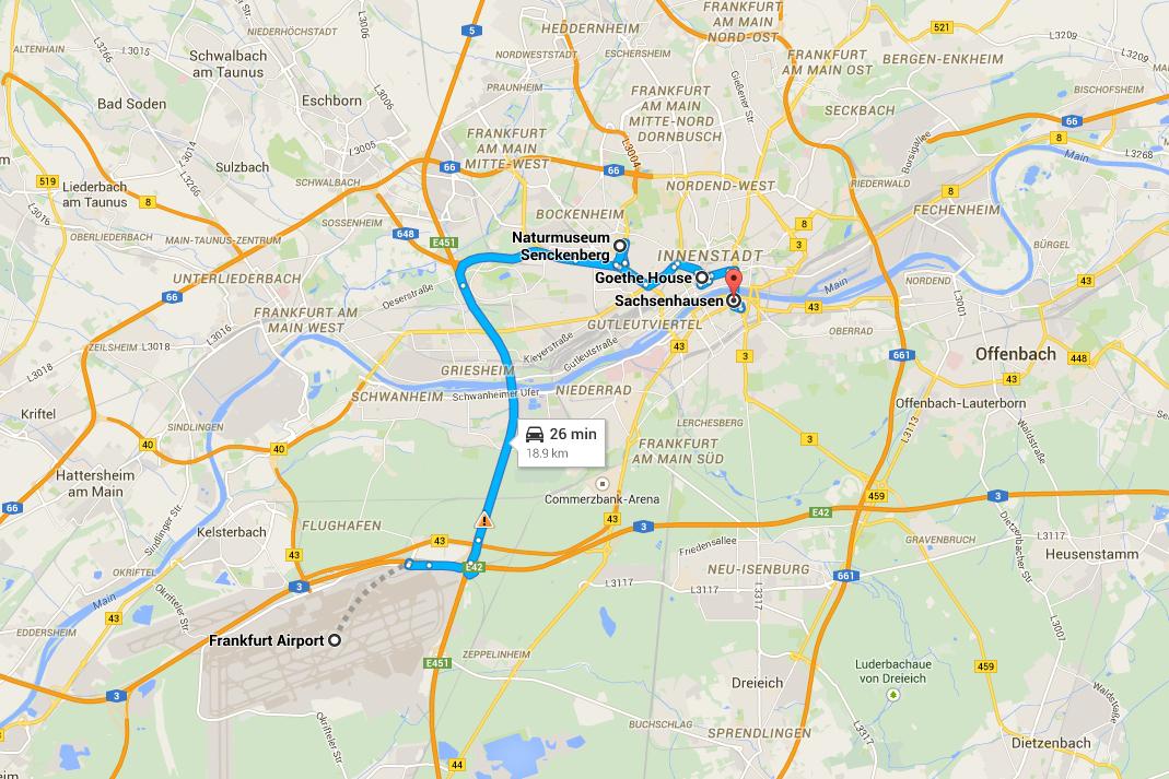 Romantisk Road Trip Frankfurt Dag 1