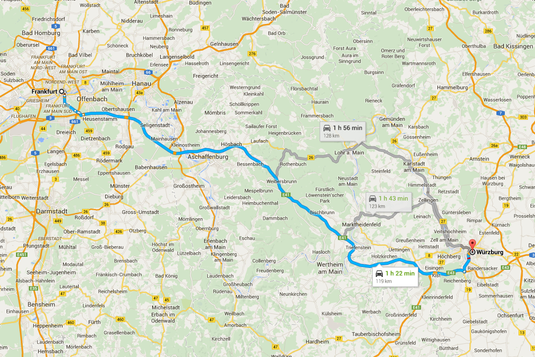 Romantisk Road Trip Wurzburg Dag 2