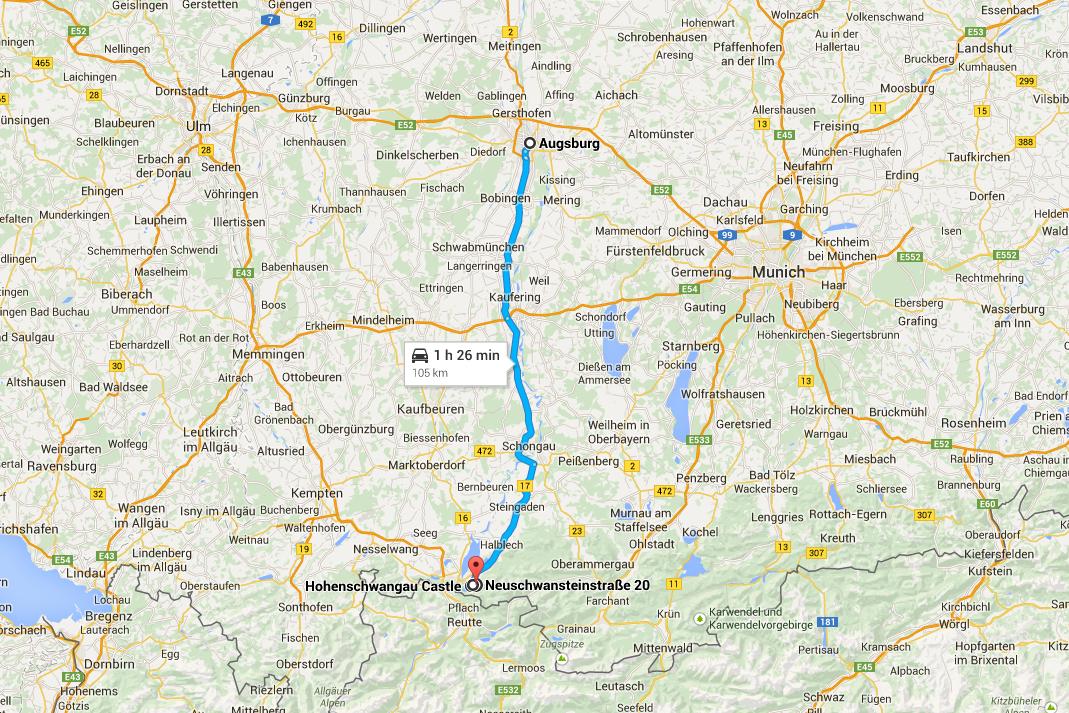 Road Trip pela Rota Romântica - De Augsburg a Hohenschwangau