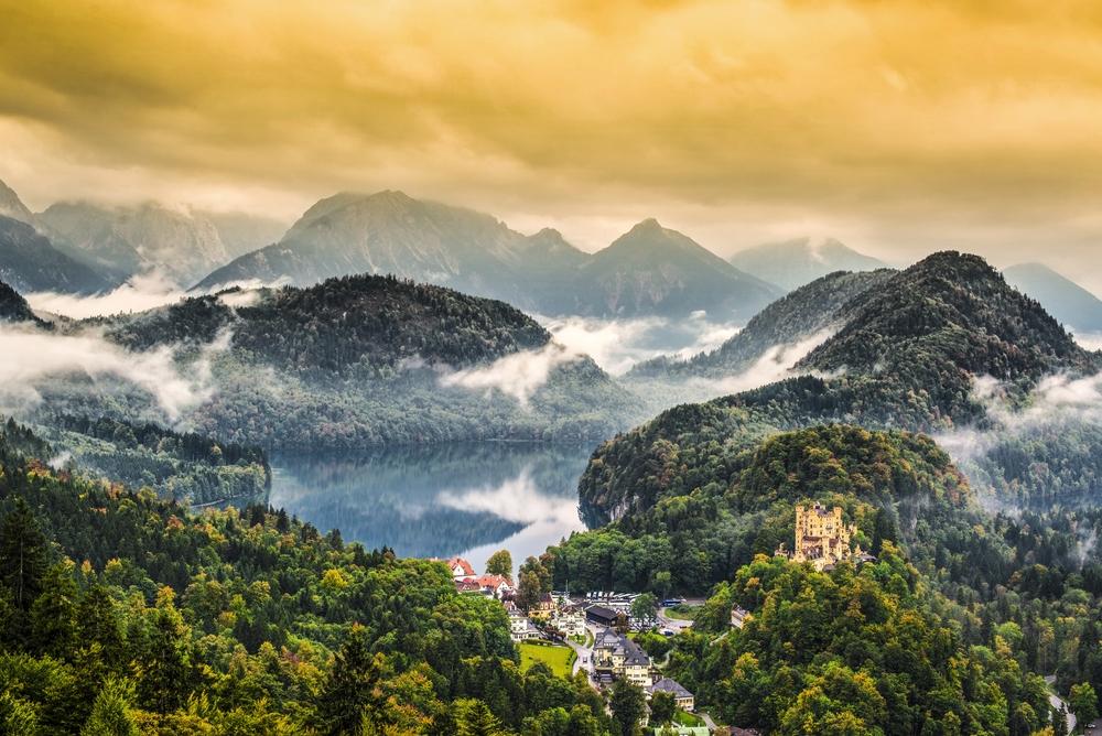 Rota Romântica, Alemanha - Vista do Castelo de Neuschwanstein