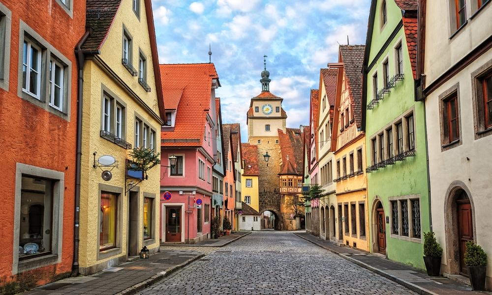 Rota Romântica, Alemanha - Rua medieval de Rothenburg